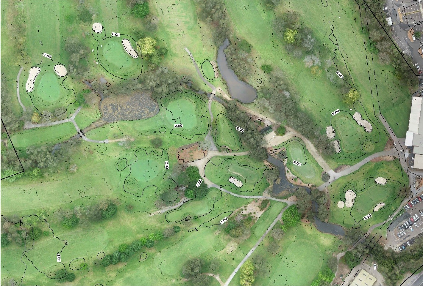 Topographical Survey of a Golf Course